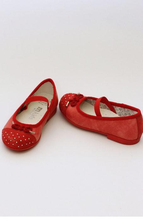 Balerini fete piele rosii MEL029