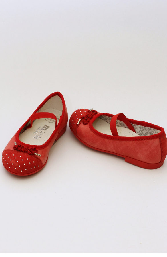 Balerini fete piele rosii MEL029 1