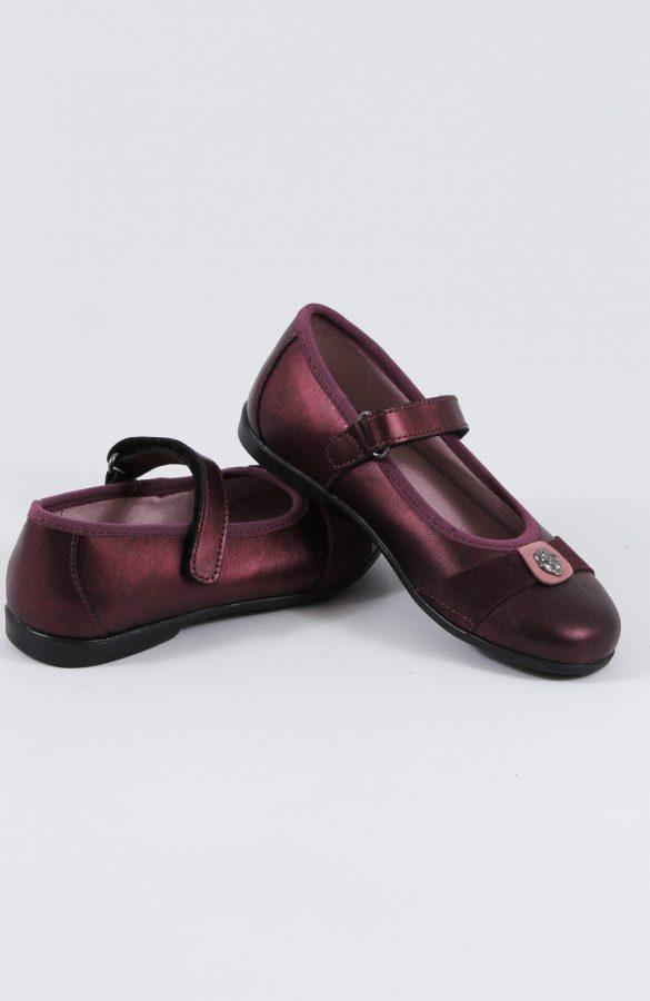 Pantofi copii culoare metalizata 1