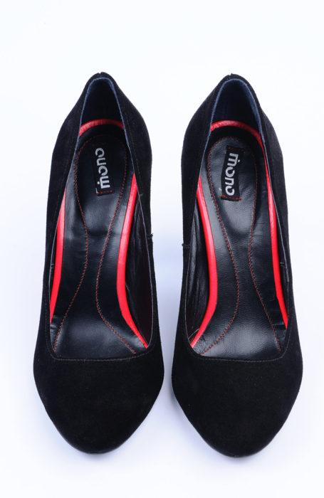 Pantofi dama din velur negru