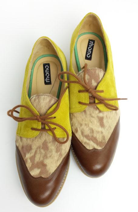 Pantofi din piele dama fara toc