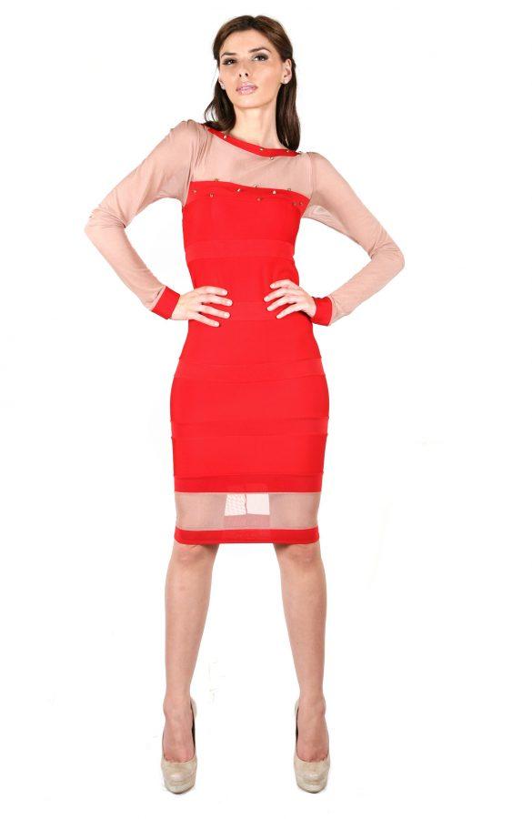 Rochie de ocazie rosie 1