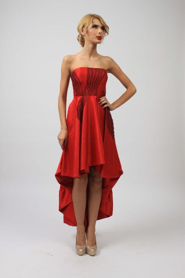 Rochie de ocazie rosie LC004 3