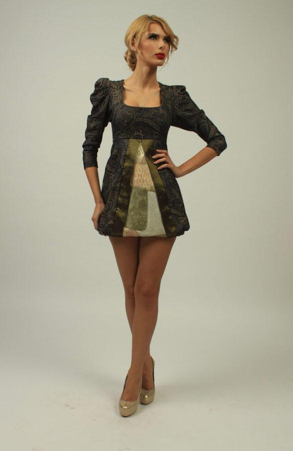 Rochie eleganta din brocard 1