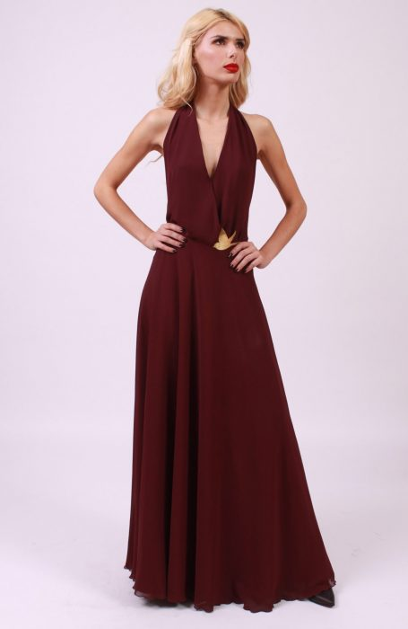 Rochie eleganta lunga cu spatele gol by Maria Burnette