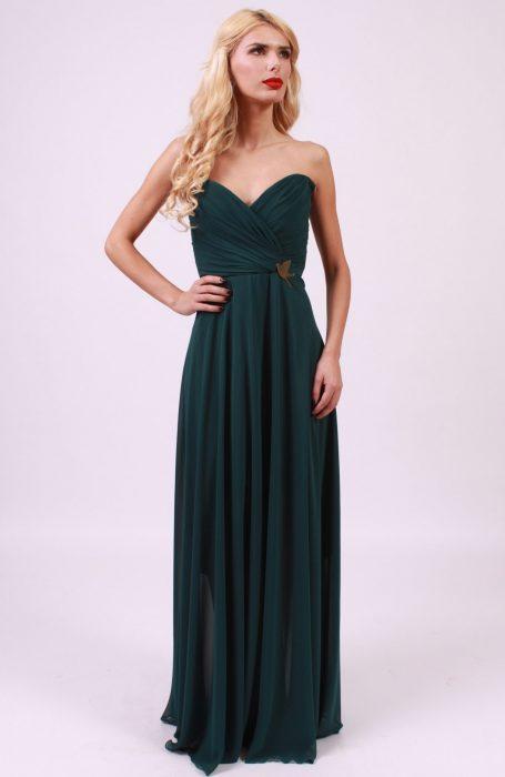 Rochie eleganta lunga vaporoasa
