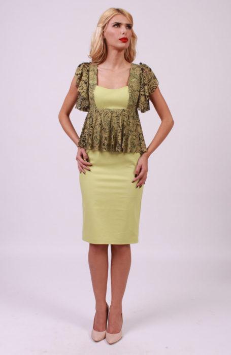 Rochie eleganta midi cu dantela