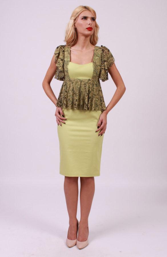 Rochie eleganta midi cu dantela 1