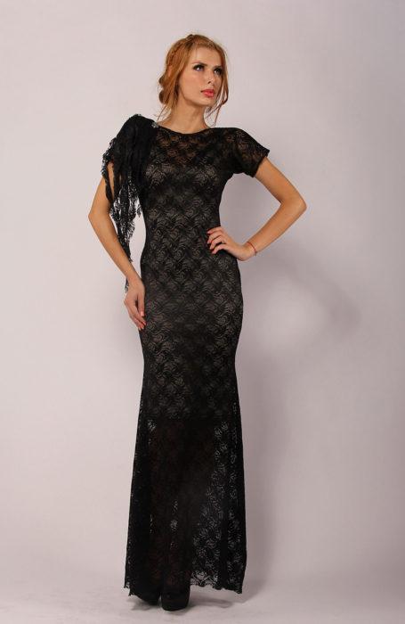 Rochie eleganta lunga din dantela