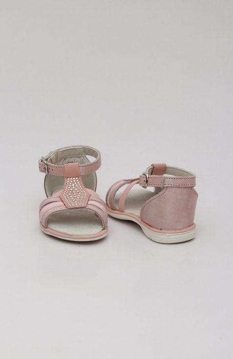 Sandale fete roz cu pietre MEL083