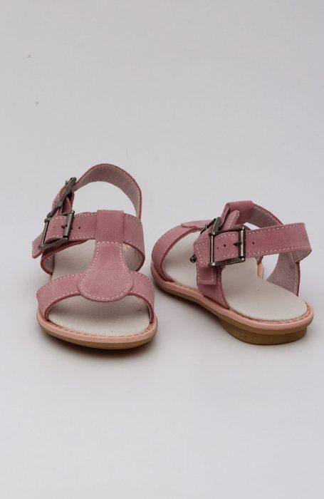 Sandale fete roz din peiel