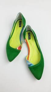 Balerini Piele Dama Green