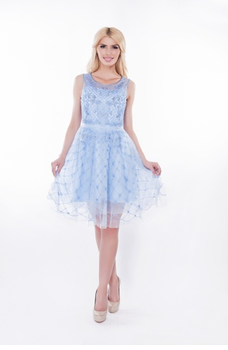 Rochie-baby-doll-bleu-Ely