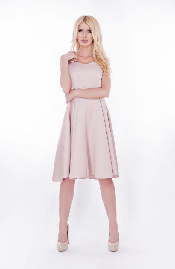Rochie-eleganta-roz-prafuit