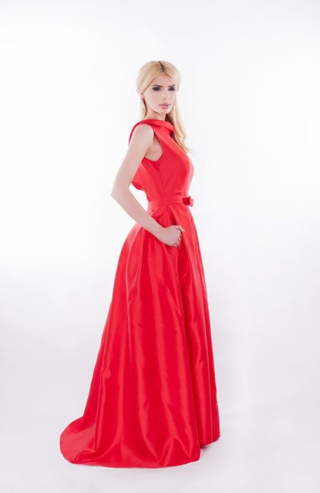 Rochie de ocazie lunga rosie
