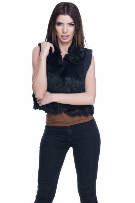 Vesta de blana naturala
