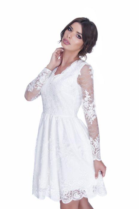 rochie cununie alba scurta