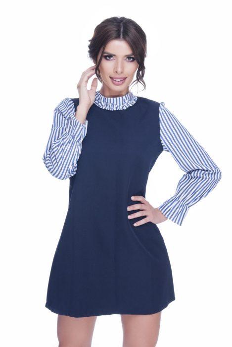 Rochie de zi albastra Dya
