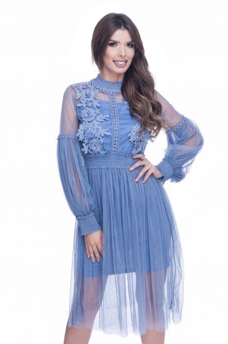 Rochie de ocazie dantela albastra