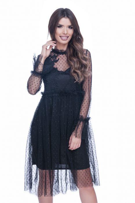 Rochie de ocazie dantela neagra