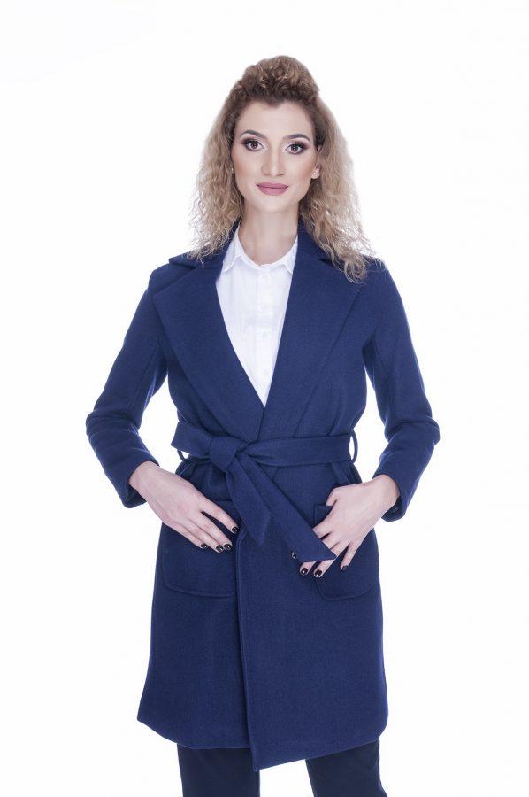 palton-dama-elegant-bleu