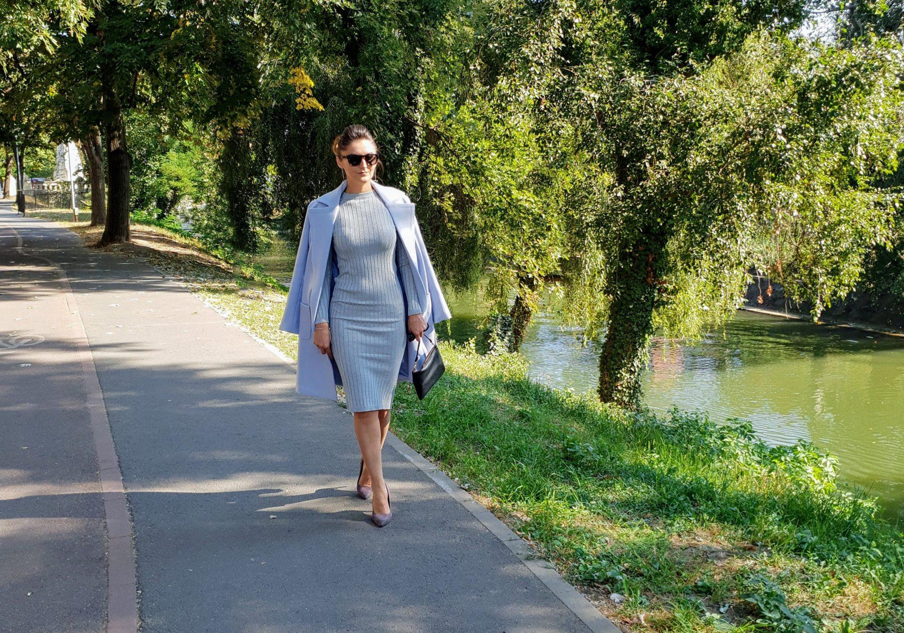 Palton dama elegant cu cordon
