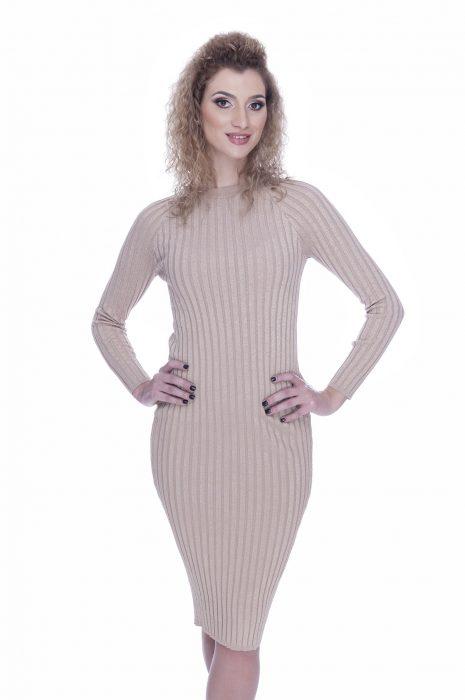 Rochie tricotata eleganta de zi