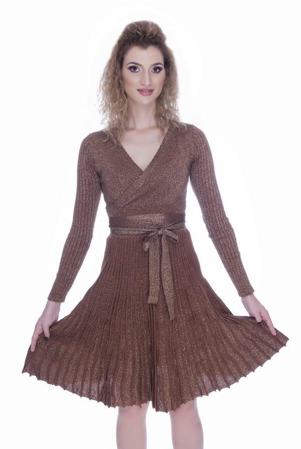 rochie-tricotata-eleganta-de-zi-maro
