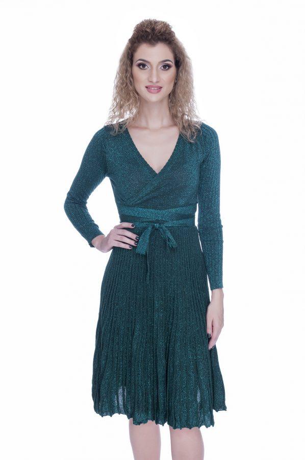 rochie-tricotata-eleganta-de-zi-verde (5)