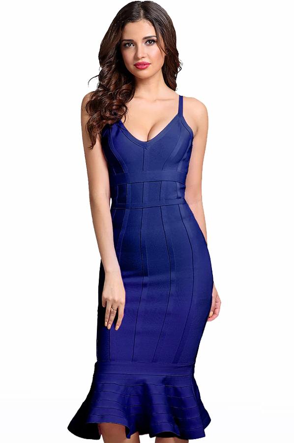 rochie-de-ocazie-bandage-midi-albastru-1