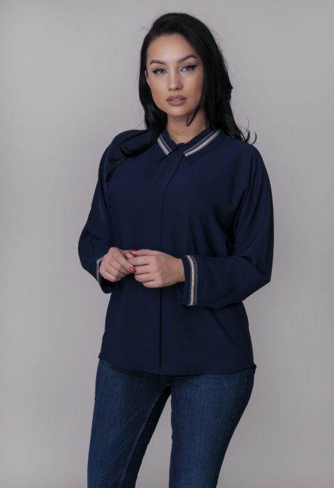 Camasi office dama albastre pentru tinute elegante de la Myfashionizer