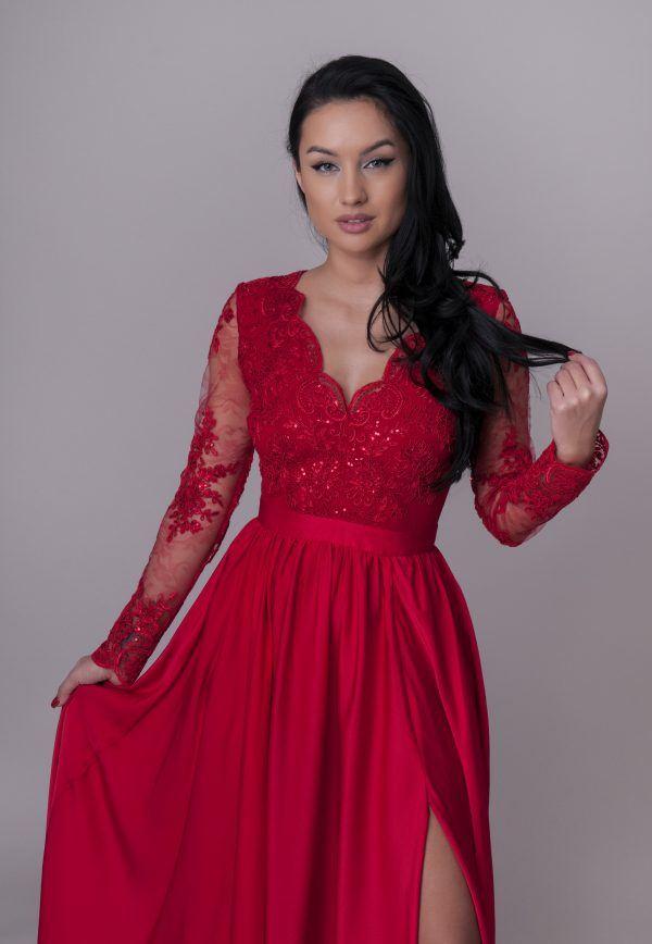 rochie-de-ocazie-lunga-rosie (1)