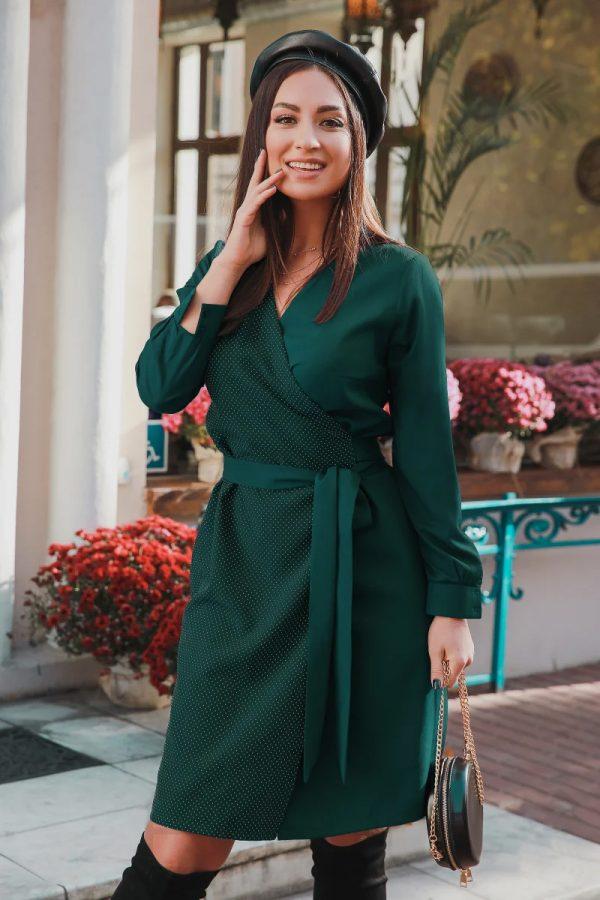 rochie-de-zi-verde-eleganta (1)