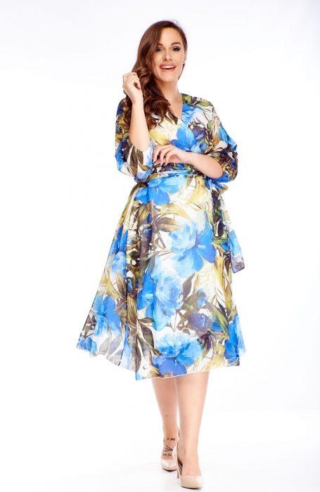 Rochie vaporoasa eleganta albastra pentru evenimentele la care participi.
