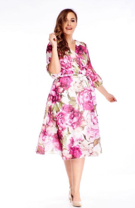 Rochie vaporoasa eleganta roz ideala pentru evenimentele la care participip.