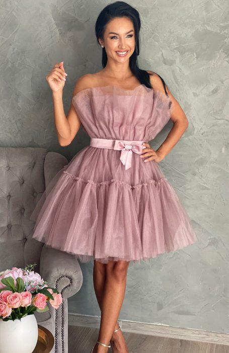 Rochie de ocazie scurta pentru nunta, banchet sau chiar pentru viitoare mirese.