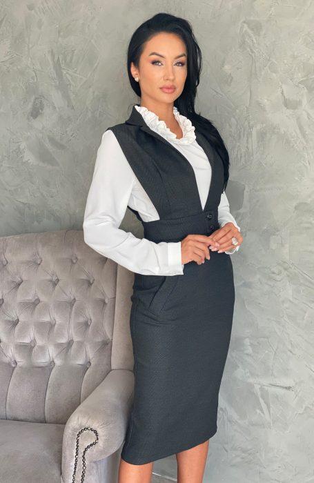 Rochie oofice eleganta midi raport calitate pret. Alege sa porti o rochie office de la Myfashionizer pentru un look modern.