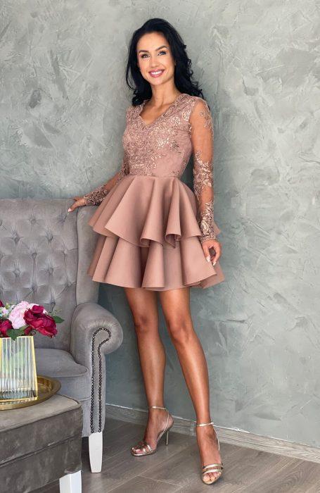 Rochie baby doll eleganta scurta pentru doamne si domnisoare. Alege sa porti rochite babydoll din Colectia Myfashionizer si vei fii complimentata.