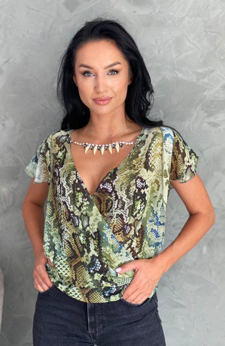Bluza dama din voal cu imprimeu pentru tinute chic. Intra acum, alege & comanda orice articol din gama noastra plina de rafinament si stil!