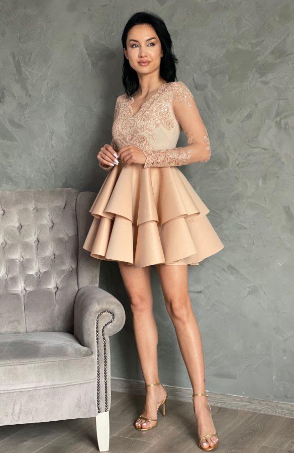 rochie-baby-doll-eleganta-crem-6